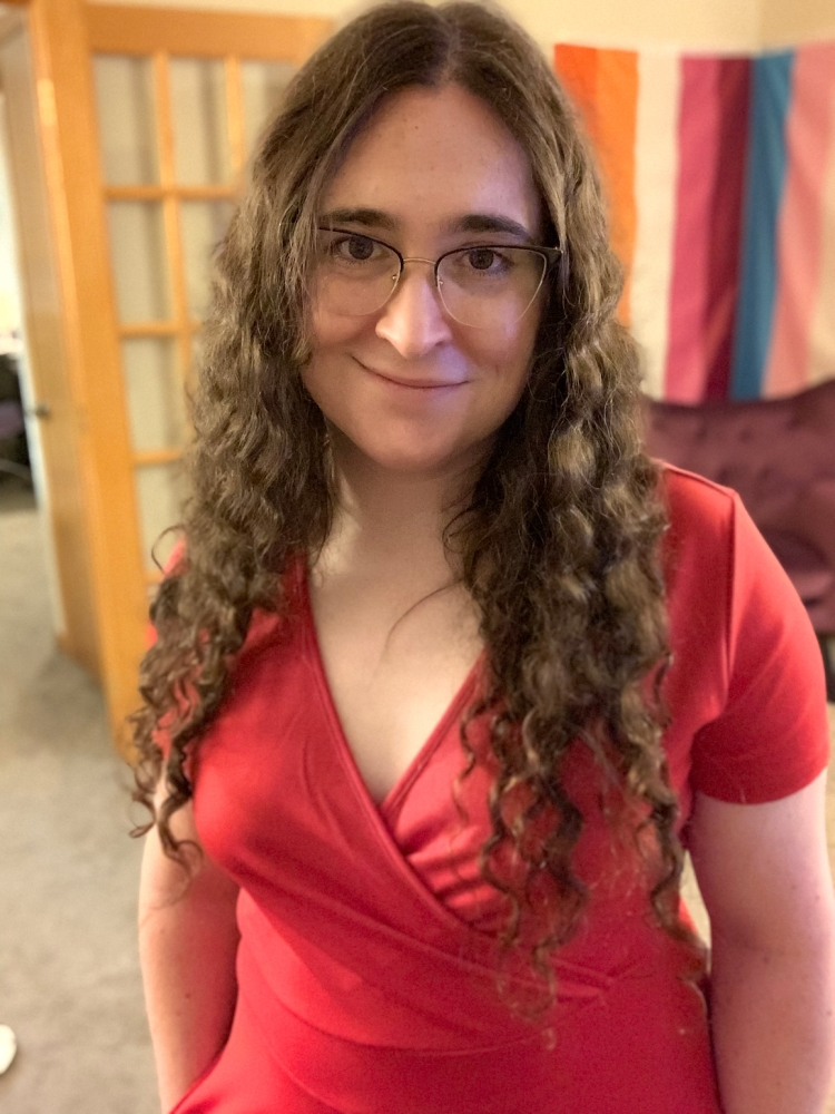 Image of Dr. Michael Ann DeVito in a red dress